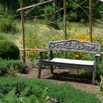 Garden Bench — Stock Photo