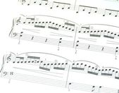 Hoja de música — Foto de Stock