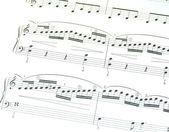 Folha de música — Foto Stock