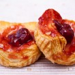 Cherry danish pastry — Stock Photo