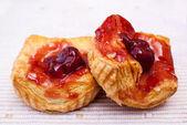 Cherry danish pastry — Stock Photo