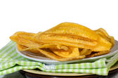 Dried banana slices — Stock Photo
