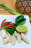 Thai Herb Spicy Soup — Stock Photo