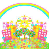 Cidade das flores — Vetorial Stock