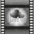 Vector de stock : Love in movies