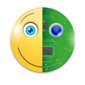 Electronic smiley — Stock Vector