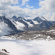 Mountain in the Clouds. Panorama — Stock Photo