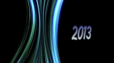 New year 2013, overflow lines. — Stock Video