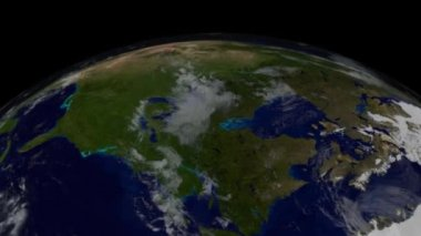 Southern hemisphere with names. Continents and Greenland — Stock Video