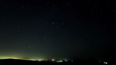 Stars over the suburb. timelapse. — Stock Video