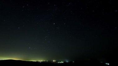 Stars over the suburb. timelapse. — Stock Video