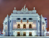 The facade of the building of the Opera and Ballet Theatre/ — Stock Photo