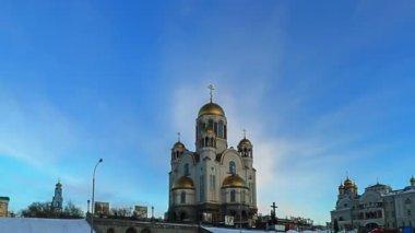 Church on Blood (Yekaterinburg) — Stock video