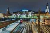 The railway station in Hamburg, Germany — Stock Photo