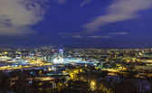 Oslo before dawn, Norway — Stock Photo