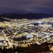 Panorama, Night Bergen. Norway — Stock Photo