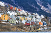 House by the fjord. Odda, Norway — Stock Photo