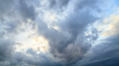 Rain clouds, rain starts. TimeLapse — Stock Video