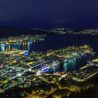 Night Bergen, Norway — Stock Photo