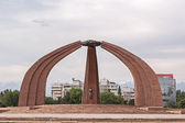 Monument of Victory - Victory Square. Memorial - Architecture and sculpture. Kirgystan, Bishkek. — Stock Photo