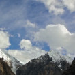 Clouds in the mountains. Kirgystan, central Tien Shan — Vidéo