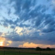 Sunset and thunderstorms. Lightning flashed. Time Lapse — Stock Video
