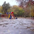 Children's playground in the fall, Ekaterinburg, Russia. — Stock Video