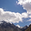 Clouds in the mountains. Kirgystan, central Tien Shan — ストックビデオ
