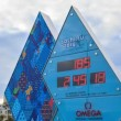Paralympic Clock Games in Sochi 2014. Fixed distortion. Time Lapse — Stock Video