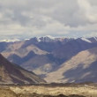 Clouds over glacier Inylchek. Kirgystan, central Tien Shan — 图库视频影像