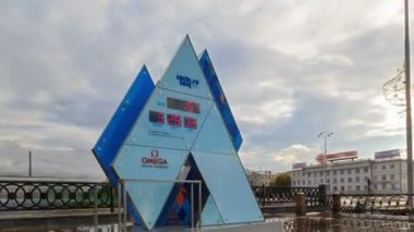 Olympic Clock Games in Sochi 2014. Time Lapse — Stock Video