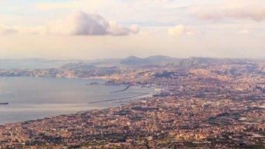 View of Naples with Vesuvius — Stock Video