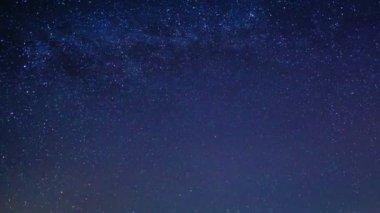 Milky Way above the volcano — Stock Video