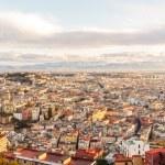 Naples at dawn. View from San Martino. Italy — Stock Photo