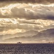 ������, ������: Ship in the Strait of Messina Italy