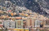 Zuid-Italië onder de sneeuw. sala consilina — Stockfoto