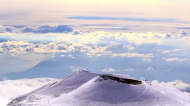 One of the extinct craters of Mount Etna — Stockvideo