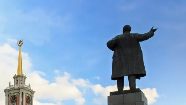 Monument à vladimir lenin — Vidéo