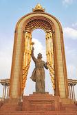 Statue of Somoni. Dushanbe, Tajikistan — Stock Photo