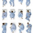 Sleeping positions part 1 — Stock Photo #18019553