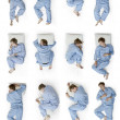 Royalty-Free Stock Photo: Sleeping positions part 1