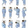 Sleeping positions part 2 - Stok fotoğraf