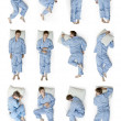 Stock Photo: Sleeping positions part 2