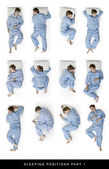 Sleeping positions part 1 — Stock Photo