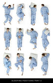 Sleeping positions part 2 — Foto Stock