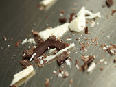 Chocolate crumbs — Stock Photo