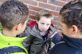 Intimidación chicos — Foto de Stock