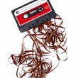 Old broken music cassette — Stock Photo #22717925