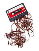 Old broken music cassette — Stock Photo