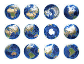 Planet earth on white — Stock Photo